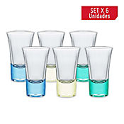Set 6 Copas para Shot Lord de 54 cc Fondo Color