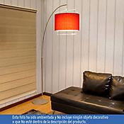 Lámpara de pie arco 1 Luz E27 rojo cromo