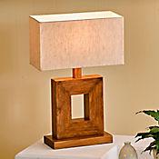 Lámpara de Mesa 1 Luz E27 Madera