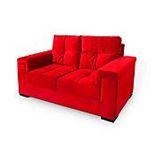 Sofá Jade Murano 2 Puestos Rojo