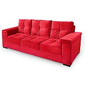 Sofá Jade 3 Puestos Murano Rojo