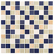 Mosaico Cerámico Atria 27.6x27.6 cm Azul