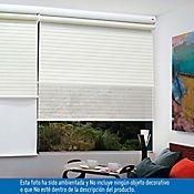 Persiana Enrollable 2 en 1 120x180 cm Blanca Cotton