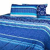 Edredón Doble Faz 144 Hilos Sencillo Musy Azul