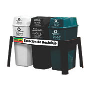 Punto Ecológico 3 Papeleras Base Plast 44 Lt