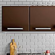 Mueble superior con 2 puertas Clásica Tabaco 120x31.8x55 cm