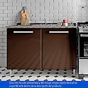 Mueble Inferior para Cocina Classica 86.5x120x82 cm 2 Puertas con Mesón y Lavaplatios Tabaco