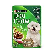 Pouche Dog Chow Cena De Pavo Trozos 85 gr