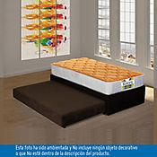 Cama Nido Negra Kolors Naranja 100x190 cm