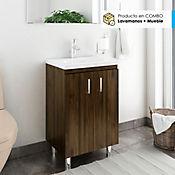 Kit lavamanos eco 48 x 38 cm blanco con mueble de piso Brixton