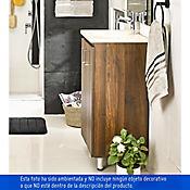 Kit lavamanos eco 48 x 38 cm marfil con mueble de piso Brixton