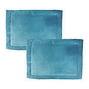 Set x2 Tapetes para Baño Foam 43x61 cm Border Aqua