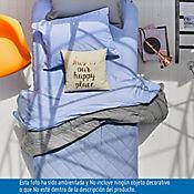 Edredón Doble Faz Sencillo 144 Hilos Gris - Azul