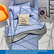 Edredón Doble Faz Doble 144 Hilos Gris - Azul