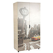 Armario Porto New York 184.2x95x51.5 cm