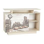 Cajonera para TV Porto New York 84.3x120x37.6 cm