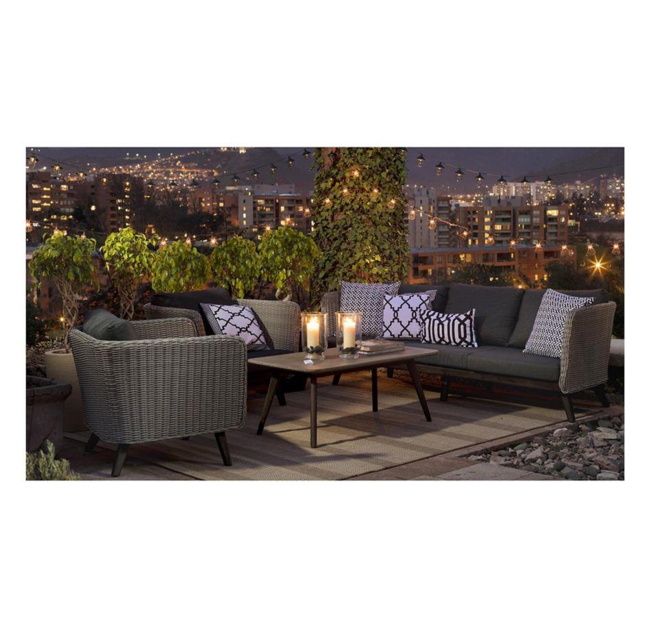 Muebles terraza juego de sala acacia porsha 4 piezas mu for Juego de muebles para terraza