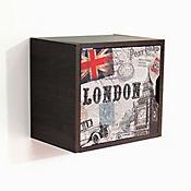 Repisa Cuadro Puerta London 33X30X22 cm