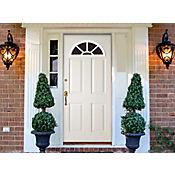 Puerta acero lista apertura derecha 90x210cm Blanca
