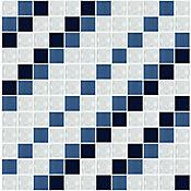 Mosaico Pompon Azul 30X30 cm