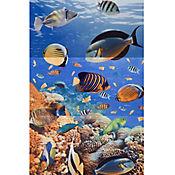 Mural Cerámico Decorativo para Baño Aguamarina 30x60 cm 3 Piezas Multicolor