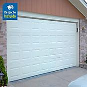 Puerta garaje acero galvanizado blanco - Diseño Cuadros
