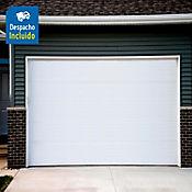 Puerta garaje acero galvanizado blanco - Diseño Liso