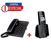 Combo Teléfono Inalámbrico + Teléfono de Escritorio
