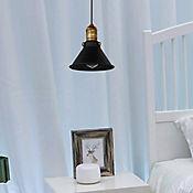 Lámpara Colgante Aby 1 Luz Rosca E27 60w Negra - Dorada