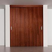 Kit puerta de closet 1.20x2.08m castaño toledo