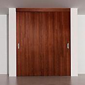 Kit puerta de closet 1.50x2.08m castaño toledo