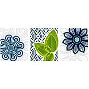Listello para Baño Irazú Flor 10x25 cm Azul