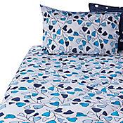Comforter Extradoble 144 Hilos Tara Azul