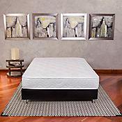 Combo Colchón Newport Sencillo 100x190 cm Blanco + Base Cama Negra