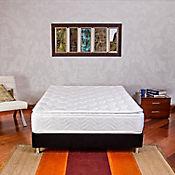 Combo Colchón Columbus Sencillo 100x190 cm Blanco + Base Cama Negra