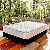 Combo Colchón San Francisco Semidoble 130x190 cm Blanco + Base Cama Negra