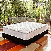 Combo Colchón San Francisco Queen 160x190 cm Blanco + Base Cama Negra