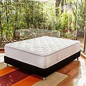 Combo Colchón San Francisco Doble 140x190 cm Blanco + Base Cama Negra