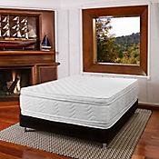 Combo Colchón Key West Sencillo 90x190 cm Blanco + Base Cama Negra