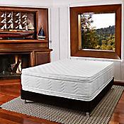 Combo Colchón Key West Sencillo 100x190 cm Blanco + Base Cama Negra