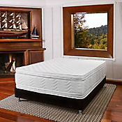 Combo Colchón Key West King 200x200 cm Blanco + Base Cama Negra