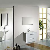 Mueble 80 cm con lavamanos Barcelos Blanco brillante