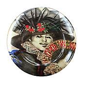 Plato Pando de 31 cm Dama de Negro Abanico Colección Grau