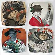 Set de 4 Platos para Postre Colección Grau
