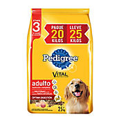 Pedigree Adulto E3 Pague 20 Kg Lleve 25 Kg