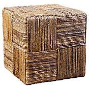 Puff Cuadrado 40 x 40 x 40 cm Ratán Natural