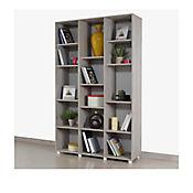 Biblioteca sin Puertas 114.4x187x35.4 cm Ceniza