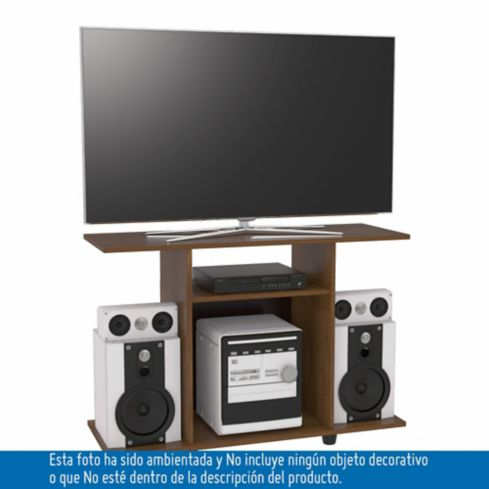 Mesa tv y sonido 40pulg 67x98x35cm caram   homecenter.com.co
