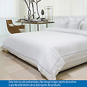 Comforter Extradoble 100% Algodón 400 Hilos Blanco - Azul Tcherassi