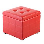 Puff Ottoman Cube Rojo 45x45x40.5 cm